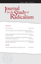 Journal for the Study of Radicalism 10, no. 1