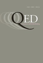 QED: A Journal in GLBTQ Worldmaking 2, no. 1
