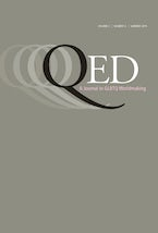 QED: A Journal in GLBTQ Worldmaking 2, no. 2