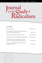 Journal for the Study of Radicalism 12, no. 1