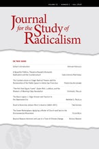 Journal for the Study of Radicalism 12, no. 2