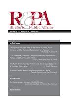 Rhetoric & Public Affairs 22, no. 1