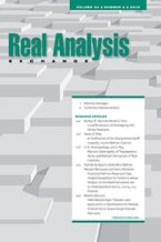 Real Analysis Exchange 44, no. 2