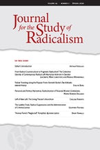 Journal for the Study of Radicalism 14, no. 1