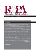 Rhetoric & Public Affairs 23, no. 1