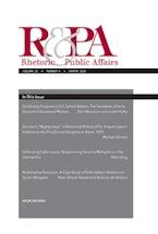 Rhetoric & Public Affairs 23, no. 4