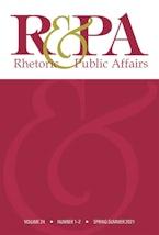 Rhetoric & Public Affairs 24, nos. 1-2